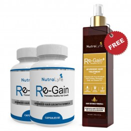 Nutralyfe Re-gain (2) + Regain Plus Oil (1) - 3 Bottles