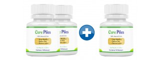 Cure Piles 2+1 Bottles (30 Capsules)