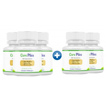 Cure Piles 3+2 Bottles (50 Capsules)