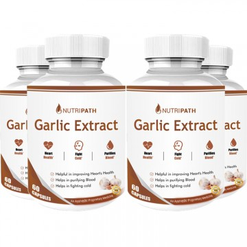 Nutripath Garlic Extract 2% Allicin-4 Bottle