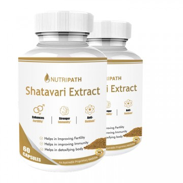 Nutripath Shatavari Extract 40%- 2 Bottle