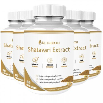 Nutripath Shatavari Extract 40%- 5 Bottle