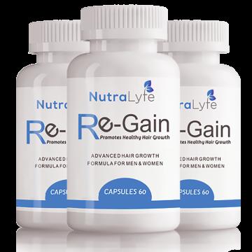 Nutralyfe Re-gain Growth - 3 Bottles