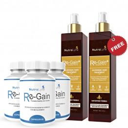 Nutralyfe Re-gain (3) + Regain Plus Oil (2) - 5 Bottles
