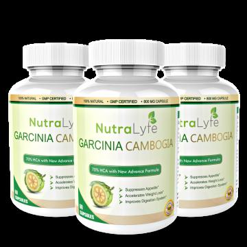 Nutralyfe Garcinia Cambogia Herbs - 3 Bottles